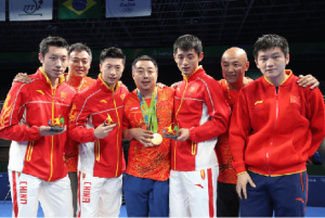 China table tennis team olympic and world champions