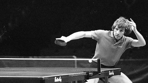 John Hilton 1980 wins european chamiponship in singles