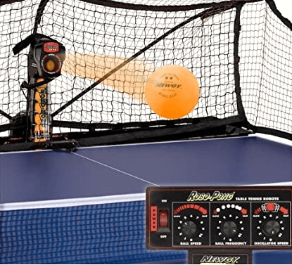 Newgy 2040 throws ball