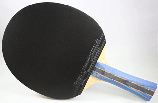 Ping pong paddle black rubber