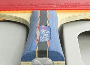 Zhang Jike ping pong blade and Flextra rubber