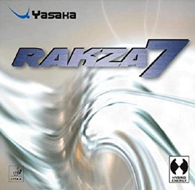 Best ping pong rubbers Yasaka Rakza 7 soft rubber
