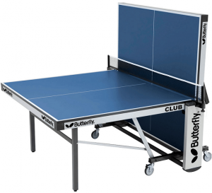 Best ping pong tables Butterfly Club 25 blue half assembled