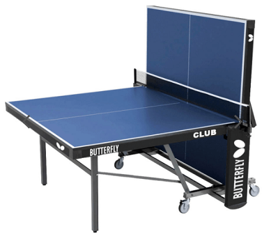 Best ping pong tables Butterfly Club 25 blue table