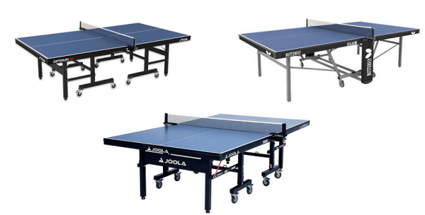 Best ping pong tables - top 3 - Stiga-Joola-Butterfly