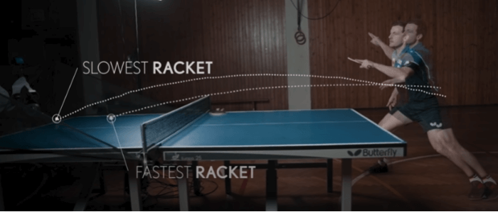 Timo boll slow and fast racket test table tennis table