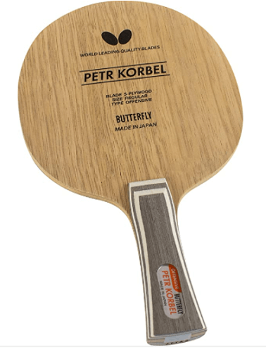 Best table tennis blades under 100 Butterfly Petr Korbel all wood flared style made in japan blade
