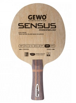 Best table tennis blades under 100 gewo sensus powerfeeling blade