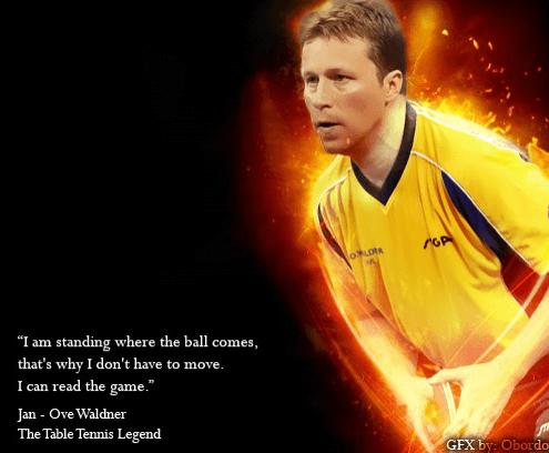 Best table tennis players Jan Ove Waldner