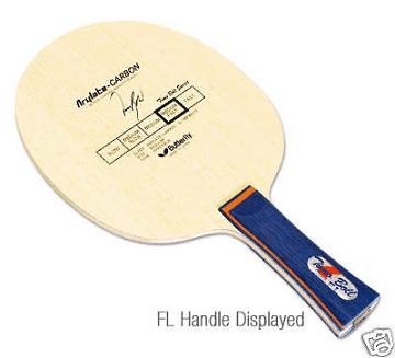 Flared handle type racket table tennis