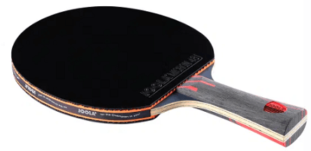 Best ping pong paddles under 100 Joola infinity overdrive paddle with black rubber on it