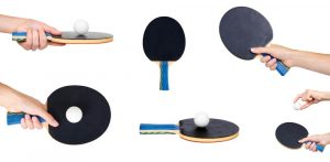 how to choose a table tennis racket different types with black rubbers