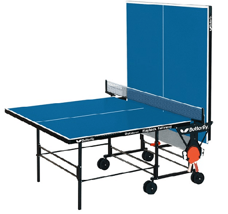 Best outdoor ping pong tables butterfly outdoor rollaway half assembled