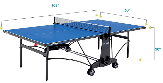 Kettle Cabo best outdoor ping pong tables dimensions blue color