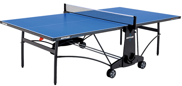 Kettler Cabo outdoor ping pong table blue color with net set