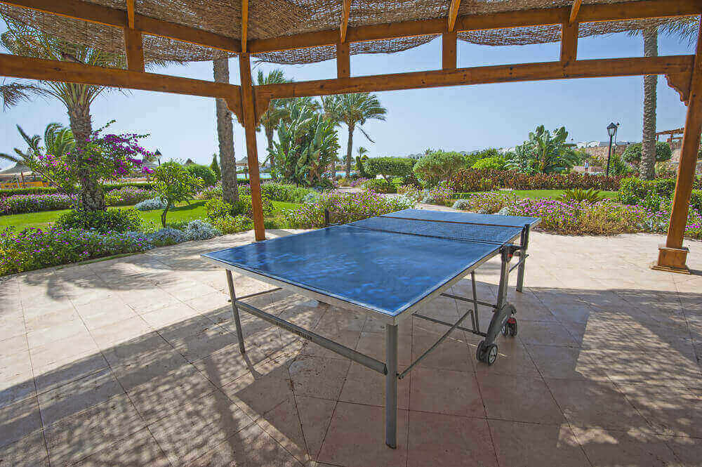 best outdoor ping pong tables blue table near the beach
