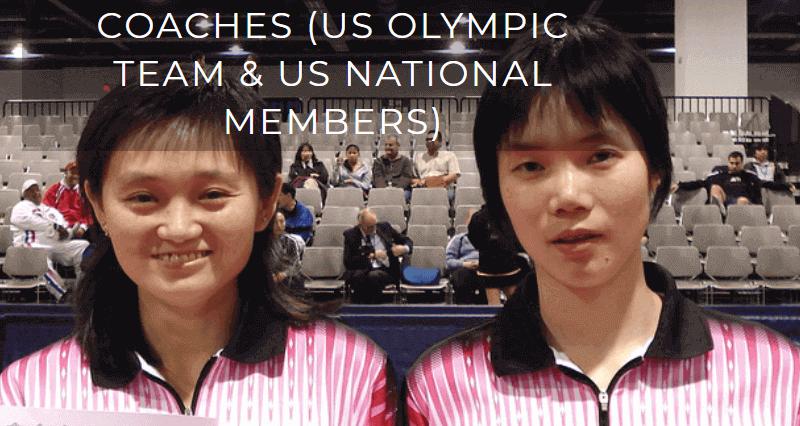 coaches at los angeles table tennis center tawny banh and Crystal Huang