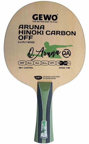 most expensive table tennis blades gewo aruna hinoki carbon blade