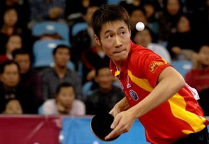 wang liqin on the best players serving in table tennis