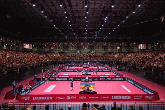 world cup table tennis arena with more spectators