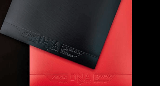 best table tennis rubbers in 2021 stiga dna platinum rubber black and red