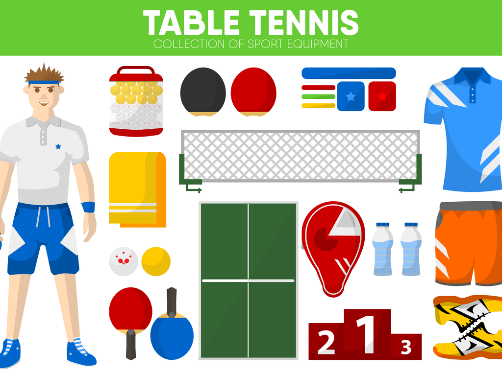 table tennis equipment all things including a player