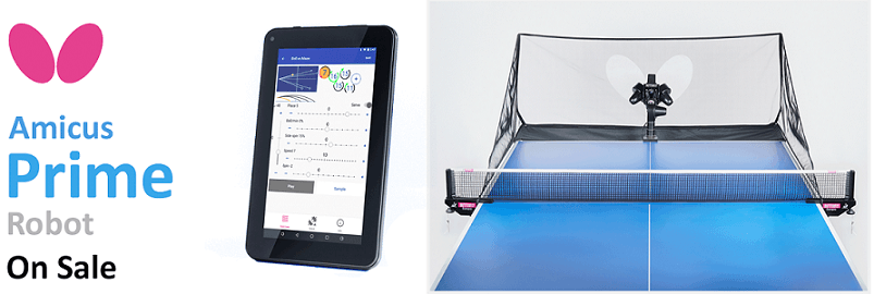 table tennis equipment butterfly table tennis robot amicus prime