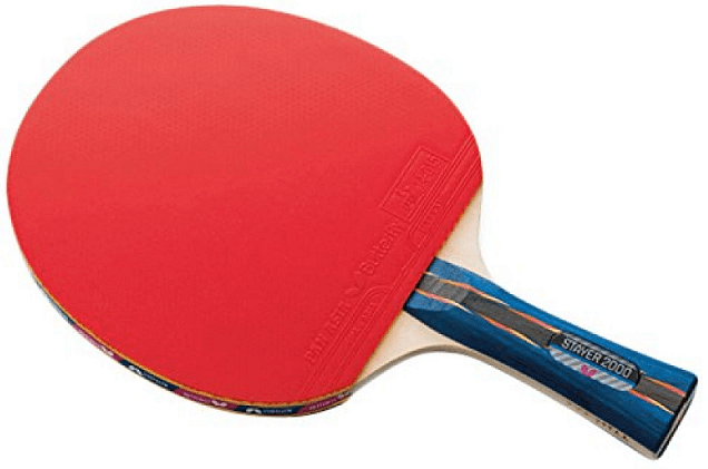 table tennis equipment the racket with red rubber