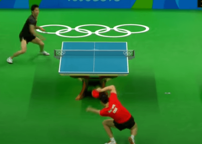 table tennis skills for advanced players ma long performing spin on spin technique