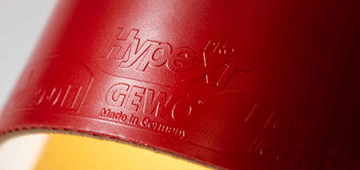 gewo hype xt pro 40 red rubber and sponge