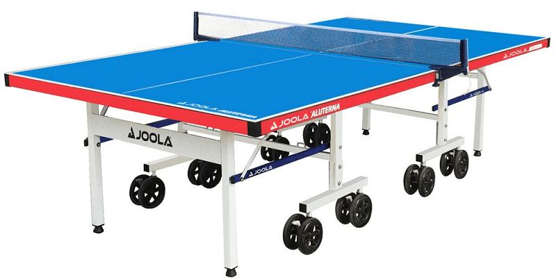 joola table tennis table blue with leg locks