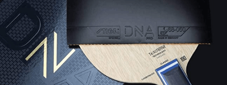 stiga dna pro in combination with blade red rubber