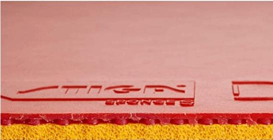 stiga dna pro s sponge transparent and red rubber